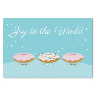 Joy to the World Donuts   Tissue Paper