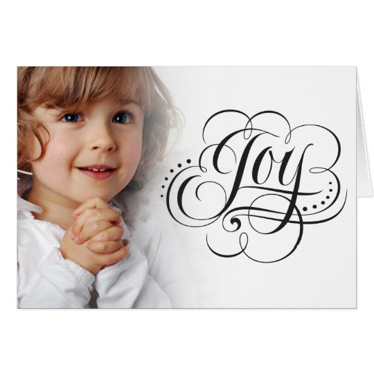 Joy to the World Elegant Modern Christmas Card