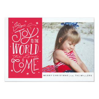 Joy to the World Flat Photo Card 13 Cm X 18 Cm Invitation Card
