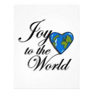Joy to the world custom flyer