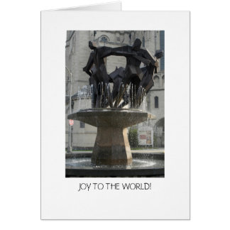 Joy to the world! greeting card