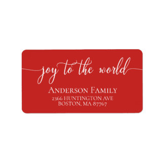 Joy to the World Holiday Address Label