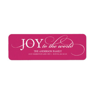 JOY TO THE WORLD | HOLIDAY ADDRESS LABELS