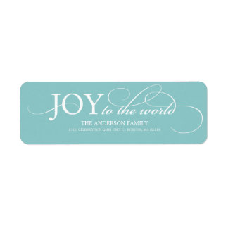 JOY TO THE WORLD | HOLIDAY ADDRESS LABELS