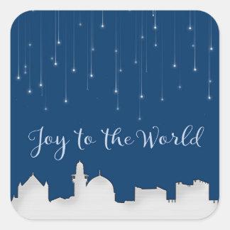 Joy to the World Jerusalem Square Sticker