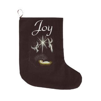 Joy to the World Large Christmas Stocking