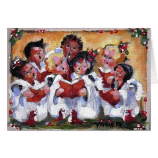 JOY TO THE WORLD -  Let the Cherubs sing! Card