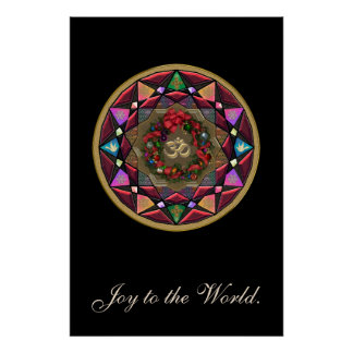 Joy to the World OM Mandala Posters