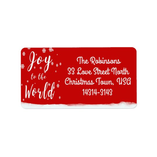 Joy to the World Personalise labels