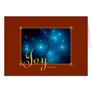 Joy To The World Pleiades Star Cluster – Hubble Greeting Card