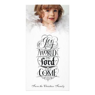 Joy to the World Religious Christmas Calligraphy Card