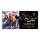 Joy to the World Religious Christmas Customized Photo Card