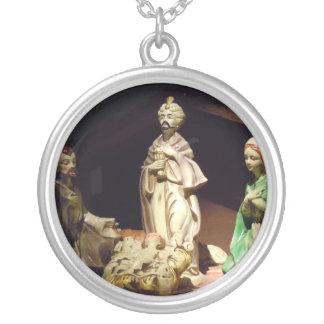 Joy To The World Round Pendant Necklace