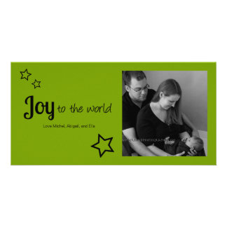 Joy to the World - Simply Modern Holiday Christmas Photo Cards