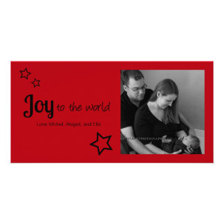Joy to the World - Simply Modern Holiday Christmas Picture Card
