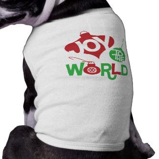 Joy to the World Sleeveless Dog Shirt