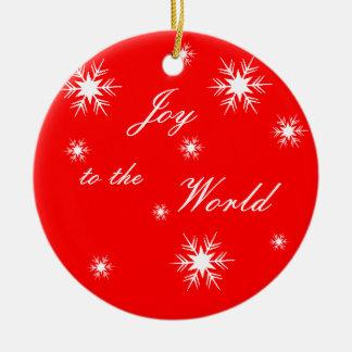 Joy to the World Snowflakes Christmas Ornament