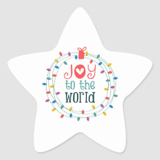Joy To The World Star Sticker