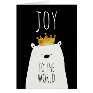 Joy To The World | Watercolor King Bear Card