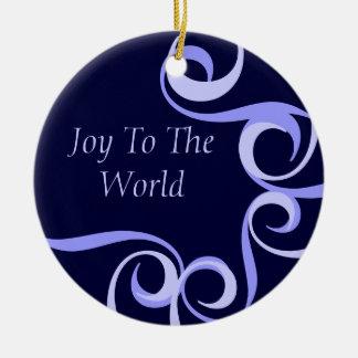 """Joy to World"" Christmas Ornament"