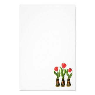 Joy Tulips Digital Painting Stationary Stationery