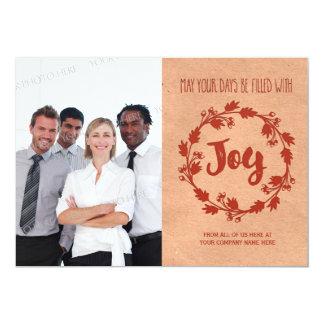 Joy Vintage Christmas Photo Card Business 13 Cm X 18 Cm Invitation Card