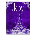 Joy with Contemporary Christmas Tree in Purple