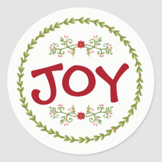 JOY with Holiday Greens | Sticker