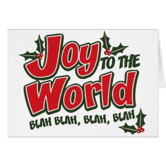 Joy World Blah Blah Greeting Card light