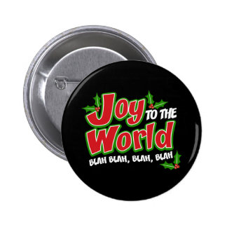 Joy World Blah Blah Round Button (dark)