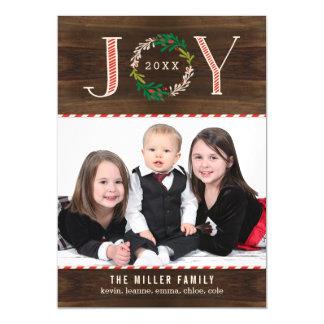 Joy Wreath Custom Holiday Magnetic Card
