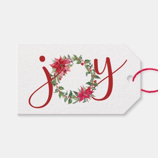 JOY Wreath   Gift Tag