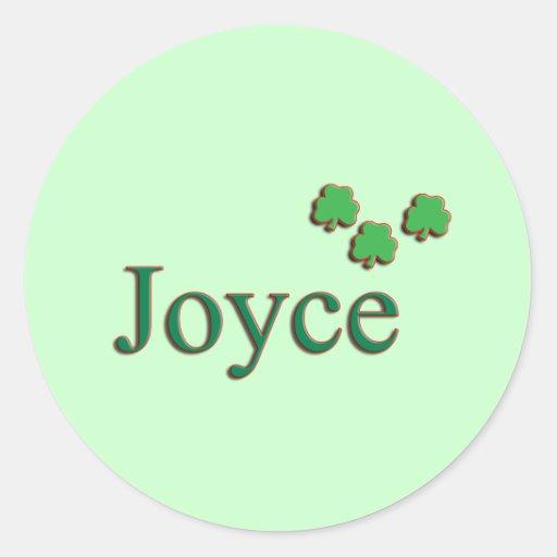 Joyce Family Round Stickers