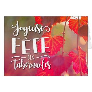 Joyeuse Fete des Tabernacles Greeting Card