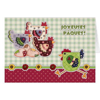Joyeuses Pâques. Customizable French Easter Cards