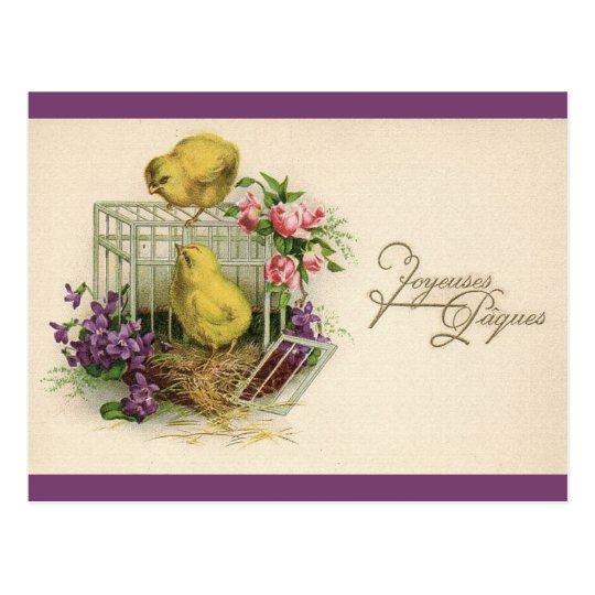 Joyeuses Paques (Happy Easter) Vintage Postcard