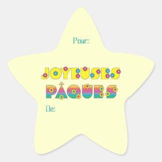 Joyeuses Pâques Star Sticker