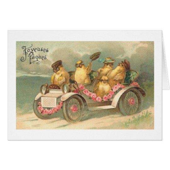 Joyeuses Paques! Vintage French Easter Card
