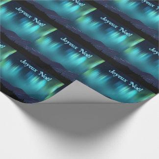 Joyeux Noёl - Aurora Borealis Wrapping Paper