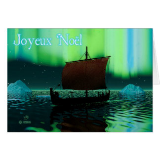 Joyeux Noёl - Viking Ship Card