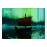 Joyeux Noёl - Viking Ship Greeting Card