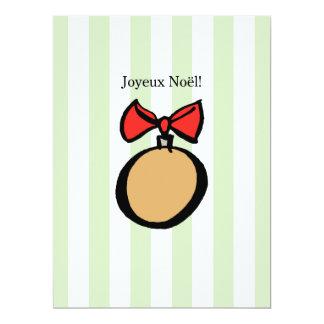 Joyeux Noël 6.5 x 8.75 Invitation
