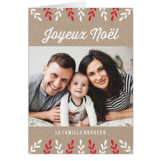 Joyeux Noël | Carte de Noël Card