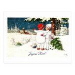 Joyeux Noel Children Xmas Card Postcards