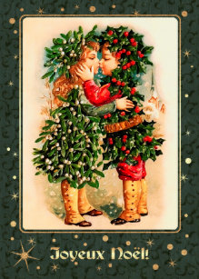 Weihnachtsgrüße In Französisch.Vintage Kissing Kids Cards Zazzle Uk