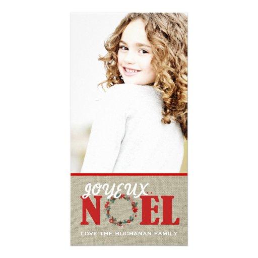 Joyeux Noel Customizable Photo Card