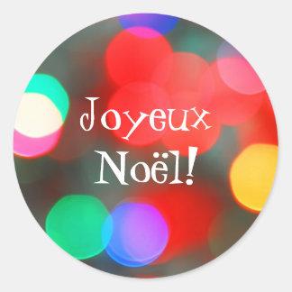 Joyeux Noël Dancing Lights Sticker