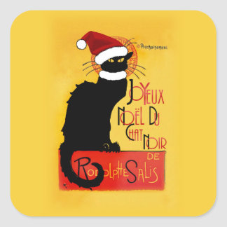Joyeux Noël Du Chat Noir Square Sticker
