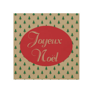 Joyeux Noel - French Christmas Wood Wall Art