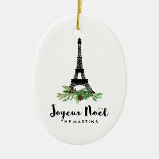 Joyeux Noel French Eiffel Tower Christmas Christmas Ornament